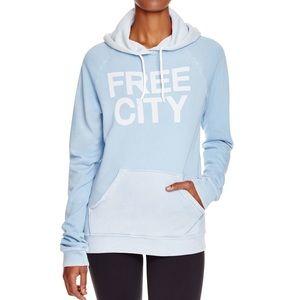 free city baby blue basic goodness hoodie🧚♀️
